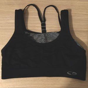 Target C9 Brand Black & Grey Sports Bra
